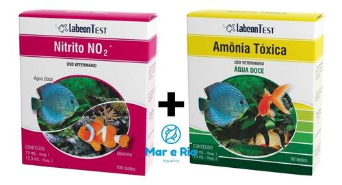 Imagem 1 de 8 de Kit Testes Alcon Labcon Amonia Toxica Doce E Nitrito No2 Nh3