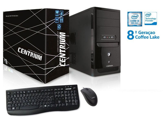 Computador Intel Fastline Core I3-8100 4gb Ddr4 500gb Linux