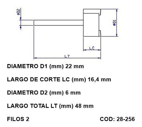 Fresas Cnc Para Rectificar Superficies Planas 6mm Vastago