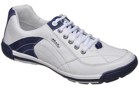 Sapato Tenis Casual Couro Palmilha Gel Jump Alcalay 1065