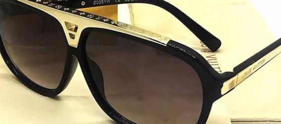 Óculos De Sol Lv EvidenceLentes De Cristal Com Proteção Uv