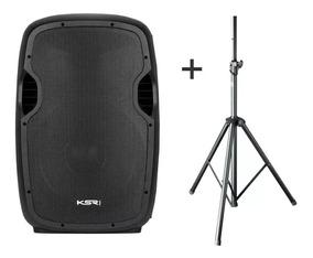 Caixa Ativa 15 Ksr Pro K815 Bluetooth Usb + Tripe - Kadu Som