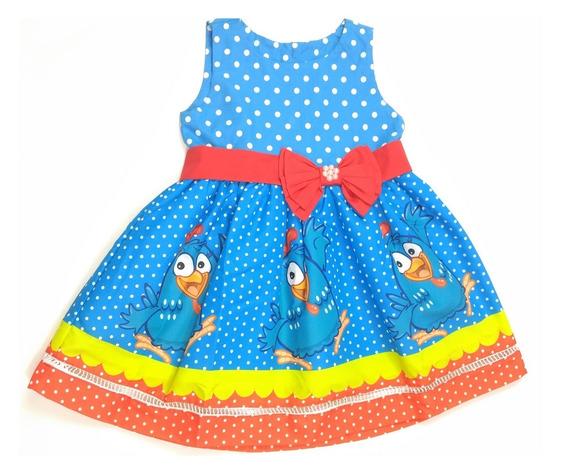Vestido Galinha Pintadinha Clara