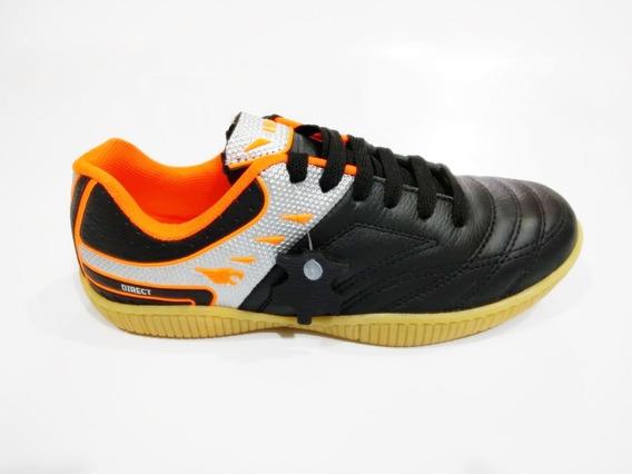 Tênis Futsal Couro Solado Latex Todo Costurado