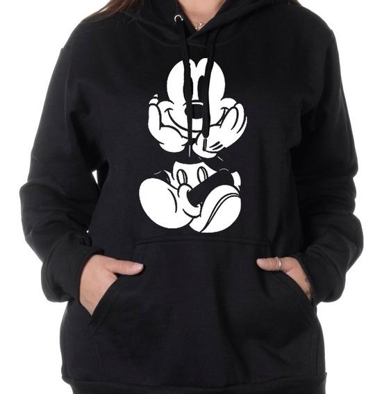 Blusa De Frio Moletom Canguru Mickey Feminino Minnie Disney