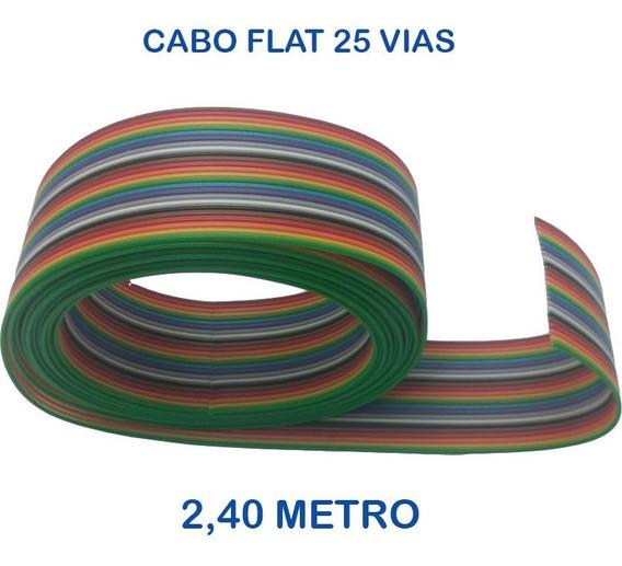 Cabo Flat Colorido 25 Vias 28awg - 12,00m Jumper Premium