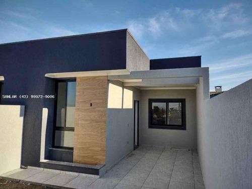 Casa Para Venda Em Ponta Grossa, Maria Otilia, 3 Dormitórios, 1 Suíte, 2 Banheiros, 2 Vagas - _1-1746273
