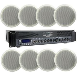 Tecshow Kit 8 Parlante Techo Funcional Dome Core 240 100v