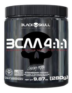 Bcaa 4.1.1 Drink Em Pó 280g - Black Skull Caveira Preta