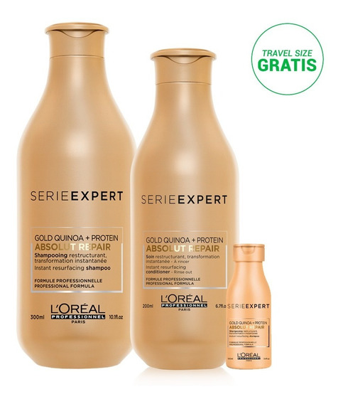 Kit Absolut Quinoa: Shampoo 300 + Acondicio 200 + Travel Oil