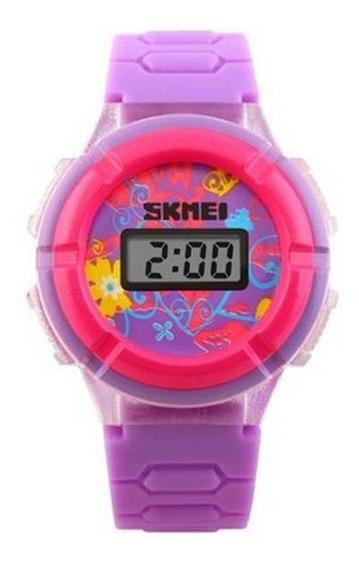 Relógio Infantil Skmei Digital 1097 Detalhes Rosa