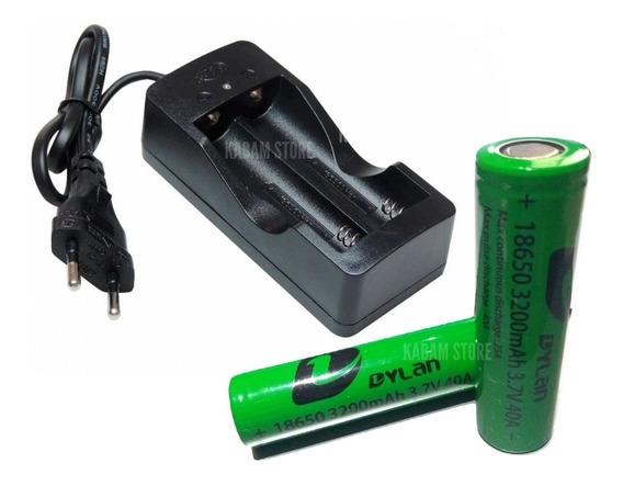 Carregador De Baterias 18650 P/ Lanterna E Vape Rapido