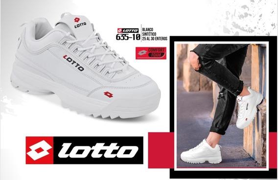 Tenis Para Caballero Lotto Blanco 635-10 Cklass Sport F19 H
