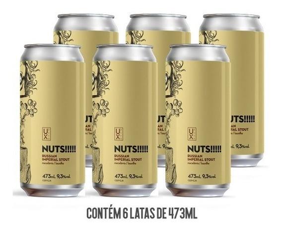 Cerveja Ux Brew Nuts!!! Caixa C/ 6 Latas 473 Ml