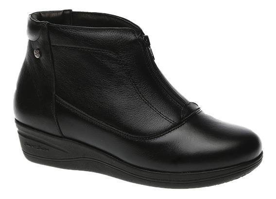 Bota Feminina Em Couro Roma Preto 155 Doctor Shoes