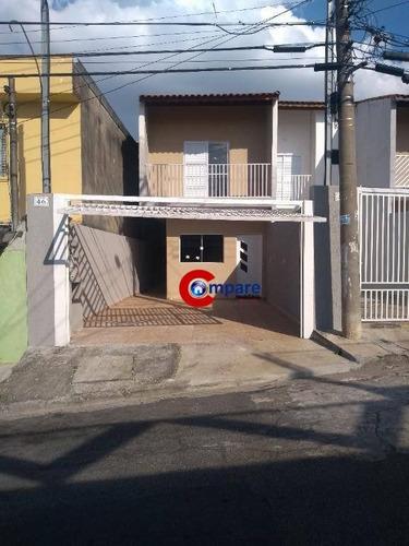 Sobrado Com 3 Dormitórios À Venda, 130 M² Por R$ 425.000,00 - Jardim Bela Vista - Guarulhos/sp - So2047