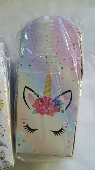 Cajas Pochocleras Temática Unicornio Dreams X 10 Unidades