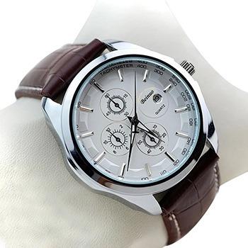 Moda Relógios Homens Marca De Luxo Relógios Pulseira Couro.