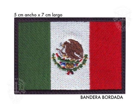 Bandera De México 7 X 5 Cm Bordada