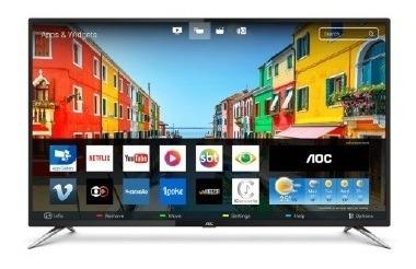 Tv 50p Aoc Led Smart 4k Wifi Usb Hdmi - Le50u7970s