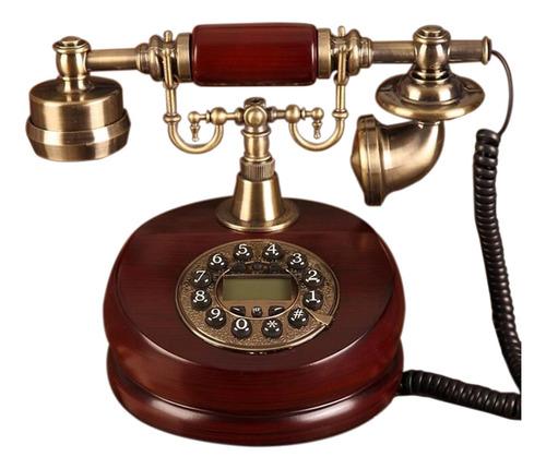 Vintage Retro Handset Teléfono Marrón
