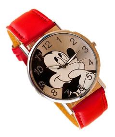 Relógio De Pulso Adolescente/criança Mickey Mouse - Vermelho