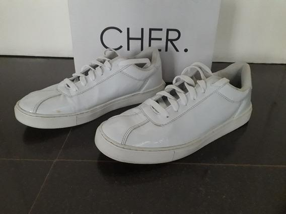 Zapatillas Maria Cher Blancas Charoladas 41
