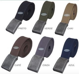 Kit 2 Cintos Plus Size Masculino Lona Premium Largura 4 L40