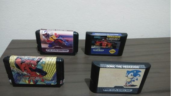 Lote 4 Jogos De Mega Drive Originais