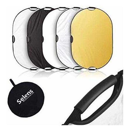 Rebatedor Oval Fotográfico/difusor 5 Em 1, 120x180cm