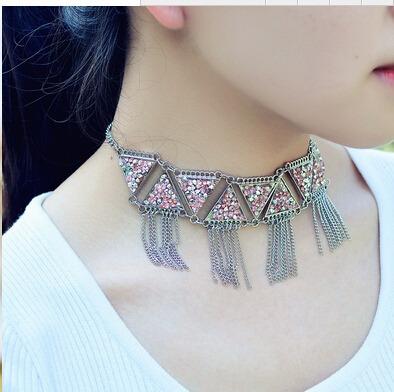 Collar De Diamante De Aleación-plata