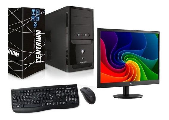 Computador G4500 4gb Ddr4 500gb+monitor Aoc E970swnl 18,5