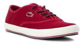 Zapatillas Lacoste Amaud Mujer - Rojo
