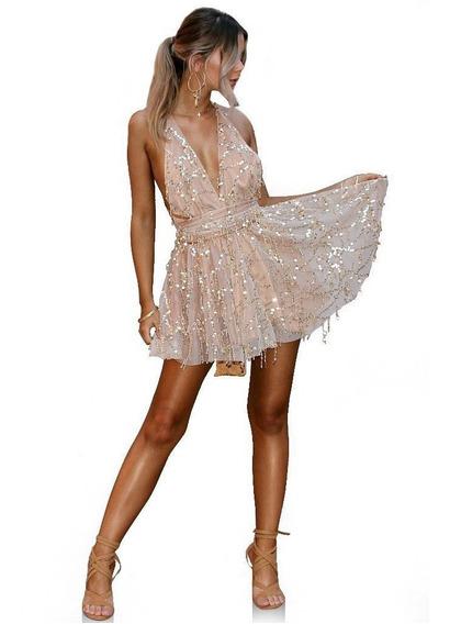 Vestido De Fiesta Civil Casamiento Disco Coctel Marca Myrvil