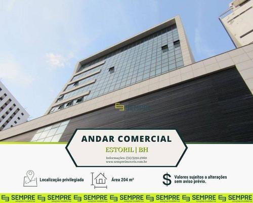Imagem 1 de 23 de Andar Corporativo Para Alugar, 204 M² E 05 Vagas - Estoril - Belo Horizonte/mg - Ac0005