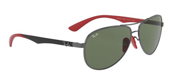 Óculos Ray Ban Ferrari Fibra De Carbono Rb8313m F00171-61