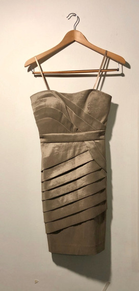 Vestido Corto - Max & Cleo - Color Dorado - Talla 0