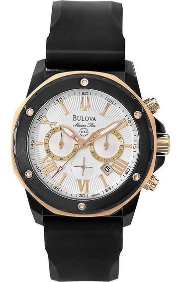 Relógio Bulova Masculino Ref: Wb30873b Marine Star Black