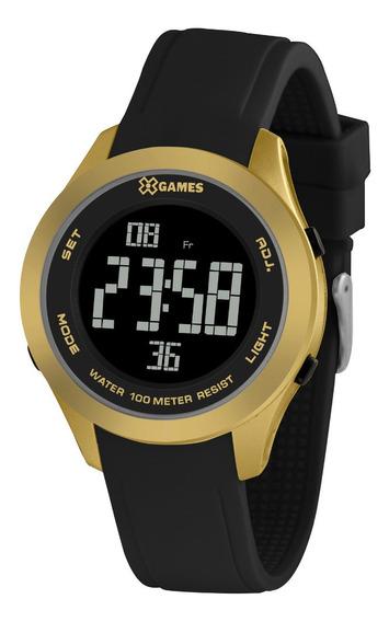 Relógio Masculino Dourado E Preto Digital X-games Original