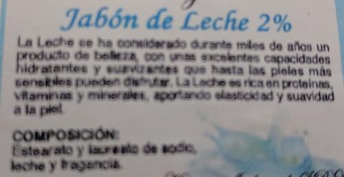 Jabón De Leche 2% 100g