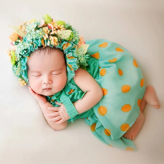 Touca Flor Para Ensaio Infantil Bebê Newborn Props Primavera