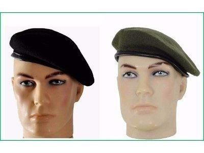 Boina Francesa Militar Preta Ou Verde