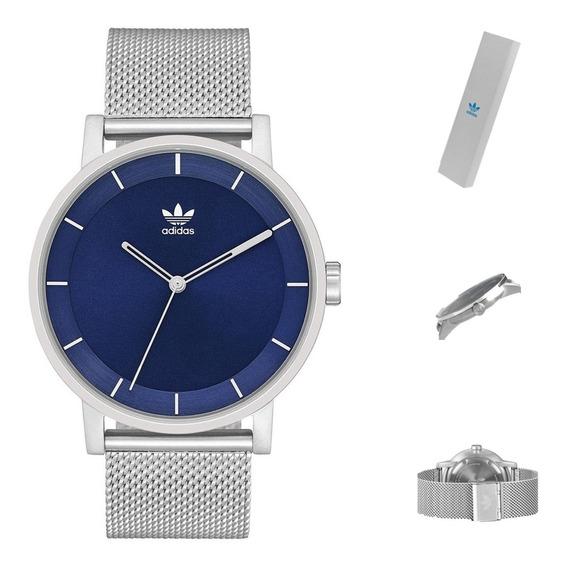 Reloj adidas Z042928 Hombre Fondo Azul Acero Wr50 Full