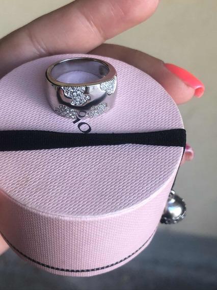 Anillo Tous Ts Oro Blanco Con Diamantes Original Unico En Ml