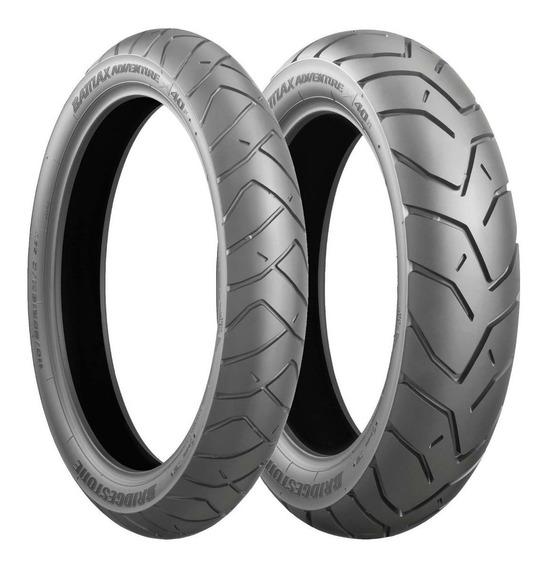 Jogo De Pneus Bridgestone Battlax A40 110/80-19 E 150/70-17