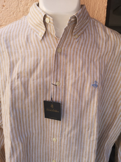 Camisa Brooks Brothers Nueva Lino Xl (no Vineyard, Polo)
