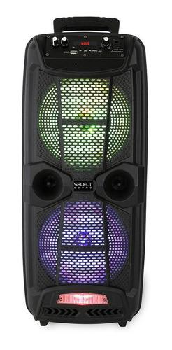 Imagen 1 de 2 de Bocina Select Sound Iron BT1708 portátil con bluetooth negra