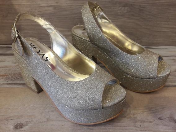 Zapatos Sandalia Plataforma Heyas Mujer Talles 35 Al 40