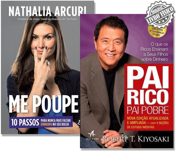 Kit Livro Pai Rico Pai Pobre + Livro Me Poupe!