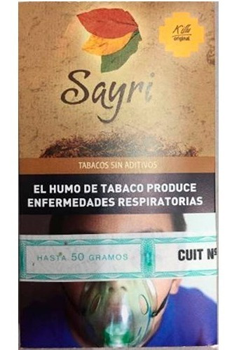 10 Tabacos Sayri X 50 Grs